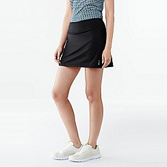 Lands' End - Black women's performance control mini skort