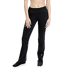 Lands' End - Black women's control bootcut workout pants