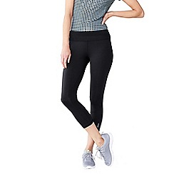 Lands' End - Black women's performance control capri leggings