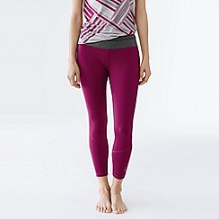 Lands' End - Purple women's performance control capri leggings