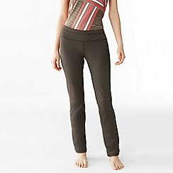 Lands' End - Brown women's control slim workout pants