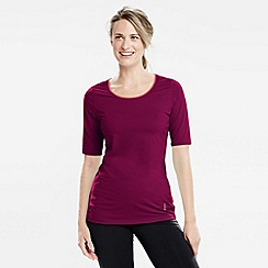 Lands' End - Purple women's elbow-sleeve workout tee