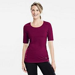 Lands' End - Purple women's elbow-sleeve workout tee