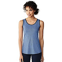 Lands' End - Blue performance printed vest top