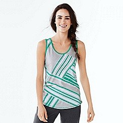 Lands' End - Grey women's performance printed vest top