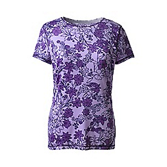 Lands' End - Purple print workout tee