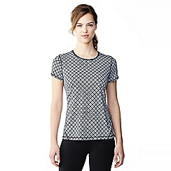 Lands' End - Black print workout tee