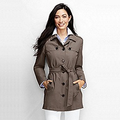Lands' End - Brown women's harbour cropped trench coat