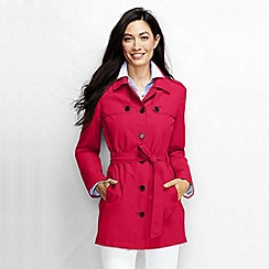 Lands' End - Red women's harbour cropped trench coat
