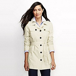 Lands' End - White women's harbour cropped trench coat