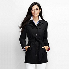 Lands' End - Black women's harbour cropped trench coat