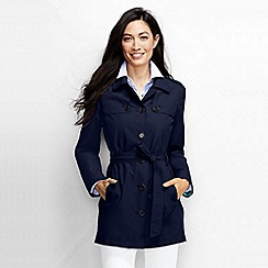 Lands' End - Blue women's harbour cropped trench coat