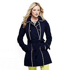 Lands' End - Blue women's heritage double breasted trench coat