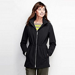 Lands' End - Black women's softshell zip front parka