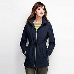 Lands' End - Blue women's softshell zip front parka