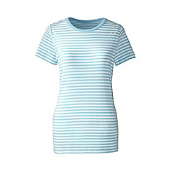 Lands' End - Blue striped rib crew neck t-shirt