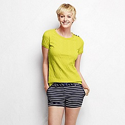 Lands' End - Yellow women's cable jacquard tee
