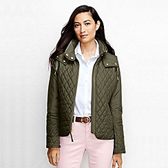 Lands' End - Green women's quilted primaloft jacket