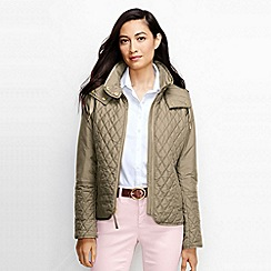 Lands' End - Beige women's quilted primaloft jacket