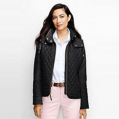 Lands' End - Black women's quilted primaloft jacket