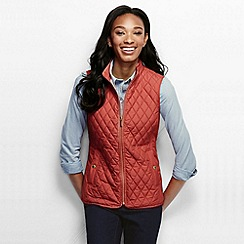 Lands' End - Red women's quilted primaloft gilet