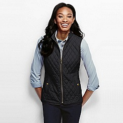 Lands' End - Black women's quilted primaloft gilet