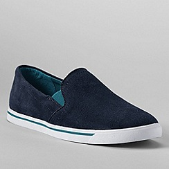 Lands' End - Blue women's casual suede slip on