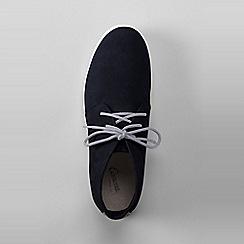 Lands' End - Blue men's classic suede chukka boots