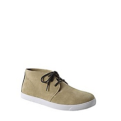 Lands' End - Beige men's classic suede chukka boots