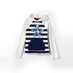 Lands' End - Blue girls' long sleeve graphic sun hoodie