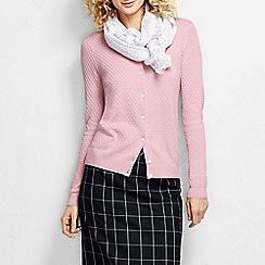 Lands' End - Pink women's supima diamond cardigan