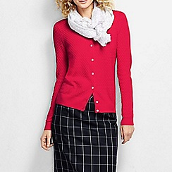 Lands' End - Red women's supima diamond cardigan