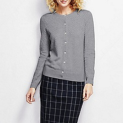 Lands' End - Grey women's supima diamond cardigan