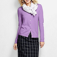 Lands' End - Purple women's supima diamond cardigan