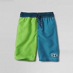Lands' End - Multi little boys' colourblock swim shorts
