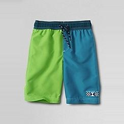 Lands' End - Multi boys' colourblock swim shorts