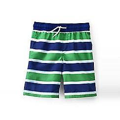 Lands' End - Green boys' printed swim trunks