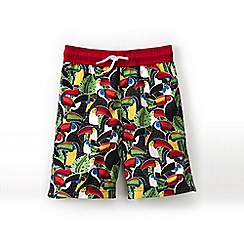 Lands' End - Green boys' printed swim trunks