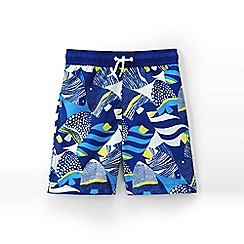 Lands' End - Blue boys' printed swim trunks