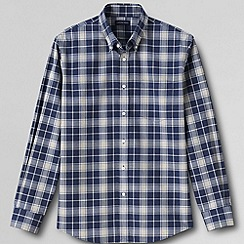 Lands' End - Multi men's traditional fit easy-iron heathered twill shirt