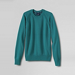 Lands' End - Blue men's cotton drifter crew neck