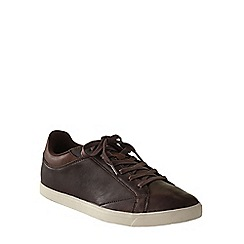 Lands' End - Brown men's classic lace-up trainers
