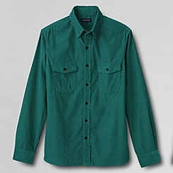Lands' End - Green mens tailored cord shirt