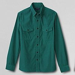 Lands' End - Green tall  tailored cord shirt