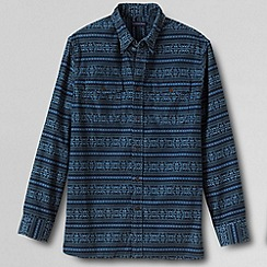 Lands' End - Blue men's patterned cord shirt