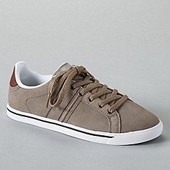 Lands' End - Brown women's classic suede lace-up trainers