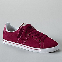 Lands' End - Purple women's classic suede lace-up trainers