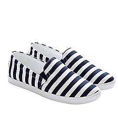 Lands' End - White casual fabric slip on shoes