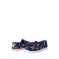 Lands' End - Blue casual fabric slip on shoes