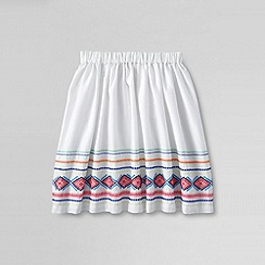 Lands' End - White little girls' embroidered skirt